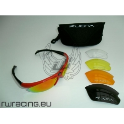 Occhiali da sole Kuota rossi + 5 lenti - per bici / peso 25 g