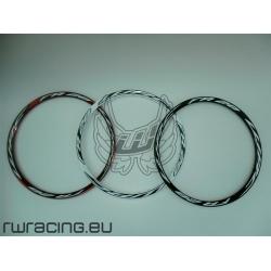 """Cerchio 26 """" WRC FR28 bianco / rosso / nero per bici / mtb"""