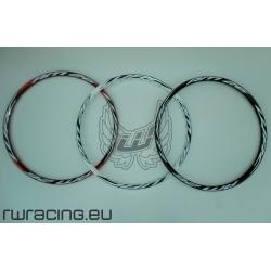 """Cerchio 26 """" WRC AM26 bianco / rosso / nero per bici / mtb"""
