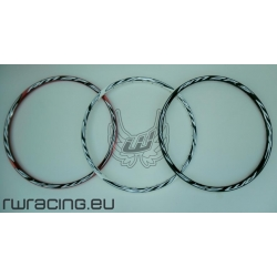 """Cerchio 27.5 """" WRC AM27 bianco / rosso / nero per bici / mtb"""