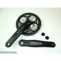 Guarnitura bici / mtb M-Wave in alluminio nera