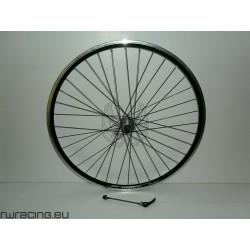 """Ruota posteriore 28"""" per bici da trekking v-brake / a filetto nera"""