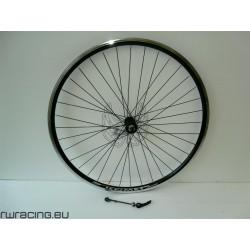 "Ruota anteriore 28"" v-brake per bici da trekking Nera - mozzo nero"