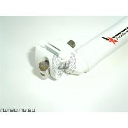 Tubo sella / reggisella TKX bianco per bici / mtb / xc da 31.6 mm
