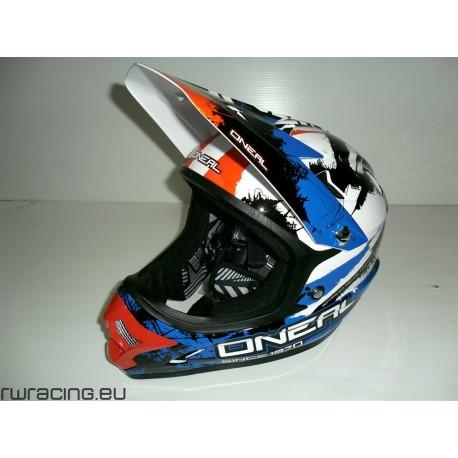 Casco Oneal Backflip Fidlock helmet RL Shocher blu / rosso