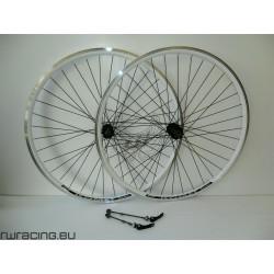 Coppia ruote citybike Komet 28 nere v-brake / a filetto
