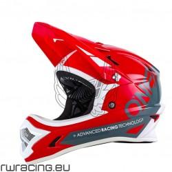 Casco Oneal Backflip Fidlock helmet rosso / grigio