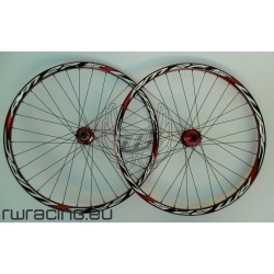 "Ruote mtb / All Mountain WRC Rosse da 27.5"" TUBELESS"