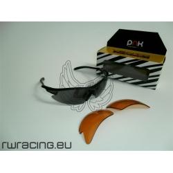 Occhiali bici Vento pnk NERI 100% protezione raggi U.V. + lenti