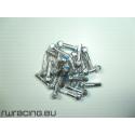 Nipples autobloccanti Alpina in ergal da 2 mm - Grigi per bici / mtb