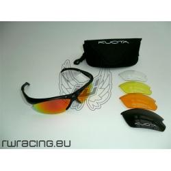Occhiali da sole Kuota neri + 5 lenti - per bici / peso 25 g