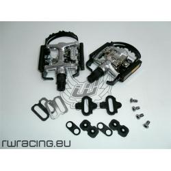 Pedali bici / mtb doppia funzione+ tacchette compatibili Shimano