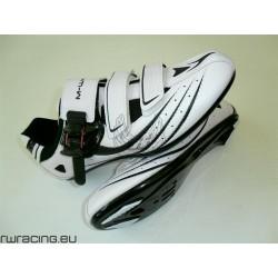 Scarpe bici / corsa / strada M-wave n 43 per tacchette - Colore bianco e nero