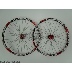 "Ruote mtb / All Mountain WRC ROSSE da 26"" TUBELESS"