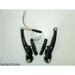 Coppia freni v-brake Tektro in alluminio nero per bici / mtb