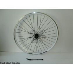 Ruota posteriore 28 v-brake / a filetto bianca