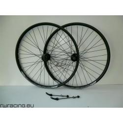 Coppia ruote 27.5 nere opache Quasar per bici / mtb