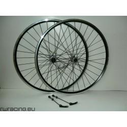 Coppia ruote citybike 28 nere v-brake / a filetto | mozzi Shimano