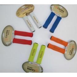 Manopole bici silicone colorate con tappo