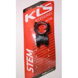 """Attacco manubrio nero KLS da 31.8 mm x 1"""" e 1/8"""