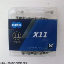 Catena KMC X10 X-Bridge Gray 10 velocità, per bici / mtb / corsa / strada