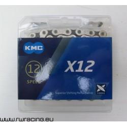 Catena KMC X11 X-Bridge Silver/Black 11 velocità, per bici / mtb / corsa / strada